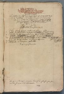 The Catalogue from the Library of Jakub Konrád Praetorius of Perlenberg